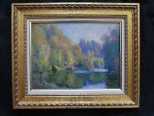 """Superbe huile  par Emile Wegelin 1875-1962 """" bord de rivière  """""""