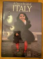 A Day in The Life of Italy 1990 Coffee Table Book Hard Cover First Pressing
