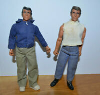 """VINTAGE MEGO HAPPY DAYS THE FONZ ACTION FIGURE DOLL LOT 8"""" 1976 WITH ACCESSORIES"""