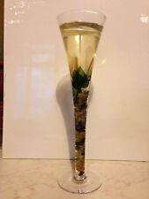 Candela gel in bicchiere - Gel candle in glass. Altezza cm 25 - 10 inches high.