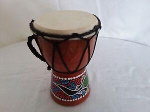 Handmade djmbe/djembe , bongo drum , wooden with dot art work 15cm