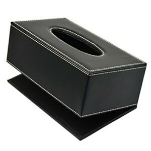 unknow Durable Leather PU Standard Tissue Box Holder For Home Office Car Rectangular