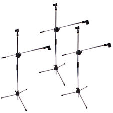 3 Pack Microphone Boom Stand Holder Mic Clip Stage Studio Tripod