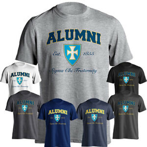 Sigma Chi Fraternity Alumni Coat of Arms Design Est. 1855 Short Sleeve T-Shirt