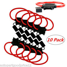 10Pack 16 Gauge 25 AMP ATC/ATO Auto Car Van In-Line Fuse Holder for Blade Fuses