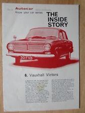 VAUXHALL VICTOR orig 1965 UK Market Inside Story brochure - FB Series Autocar