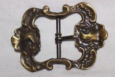 Boucles de ceinture vintage en bronze