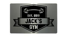 Custom Personalised Gym Name, Year Metal Aluminium Plaque Sign For Door Fitness