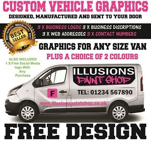 VAN GRAPHICS SIGN WRITING KIT DECALS STICKERS LETTERING, ALL SIZE VANS.