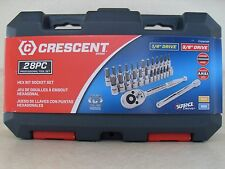 Crescent 28pc Hex Torx Bit Socket Set Ratchet Extension SAE Metric
