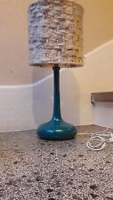 Rare Lampe à Poser en Céramique Jacques et Dani Ruelland Bleue canard