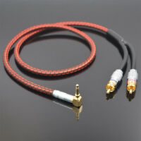 Monster Audio Cable Stereo 3.5mm right angle to 2 RCA for MP3 CD DVD TV PC