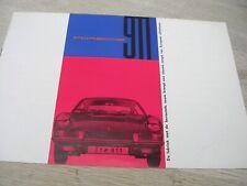 Brochure Porsche 911 12 blz uit maart 1965. nr W221 nederlands talig