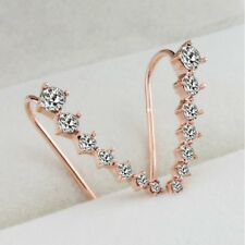 Ear Stud Earrings Women Jewelry New Fashion Crystal Gold Big Dipper Rhinestone