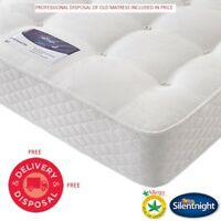 Silentnight Double Miracoil Orthopaedic Hypoallergenic Mattress Anti-Allergy