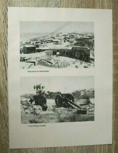 Blatt Bilder Dünkirchen Dünen Fort Geschütz Hafen Küstengeschütz 2. WK WWII