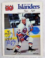 Patrick Flatley Autographed Signed New York Islanders Vintage Program Auto