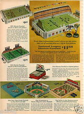 1964 PAPER AD NFL National Football League Game Toy Foto Electric Baseball