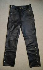 Women's  Motorcycle pants Love Leathers Leather Overpants size 8 EUC