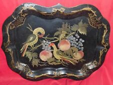 """Large Antique Toleware Tray - 29 1/4"""" x 22 1/4"""""""