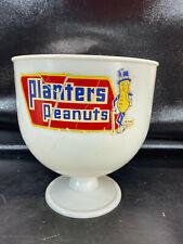 New ListingVtg White Planters Peanuts Plastic Counter Display Bowl Dish w/ Mr. Peanut Logo