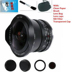TTartisan 7.5mm F2.0 Fisheye Lens +ND1000 Filter For Sony E E-mount Cameras