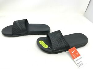 Mens Nike (705474-091) Banassi Solarsoft Black Slides (455A-J)