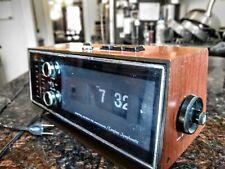 New ListingVintage woodgrain Symphonette Lcr 220 Flip Alarm Clock Alarm Am/Fm Radio. Works