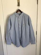 NWT POLO RALPH LAUREN Mens Oxford Button Down Dress Shirt Blue 3XLT