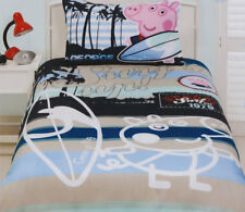George Quilt Doona Duvet Cover Set Boys Bedding Kids Peppa Pig Piggy Toy Surfing