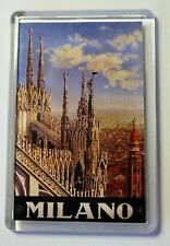 Milan- Milano Vintage Travel Poster Fridge Magnet