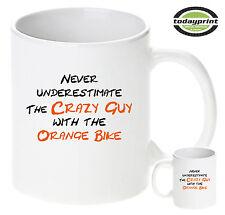 NEVER UNDERESTIMATE, Tasse, Becher, für Orange, Supermoto, ktm, Enduro Dirt Fans