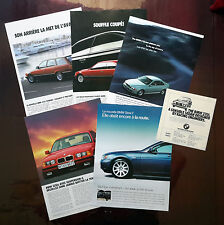 1978-2002 BMW - Lot of 6 vintage original print AD 320i 525i 325i 540i series 7