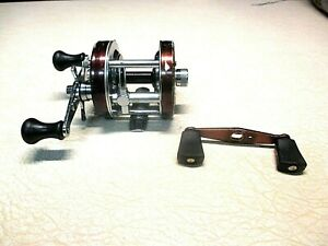 ABU GARCIA AMBASSADEUR FISHING REEL - BROWN 5500 W/ HANDLE - CLEAN & WORKS GOOD