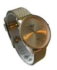 Ladies Dress Watch Milano MC46452 Gold Silicone Band and Dial, Water Resistant