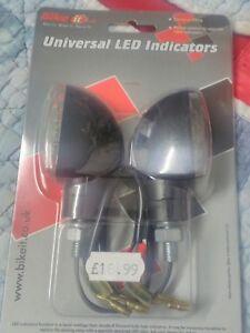Yamaha/honda/suzuki/Kawasaki indicators black body, clear lens by bike it