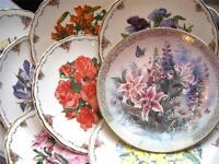 Royal Albert Floral Collectors Plates Made in England Lena Lui Floral RefJ5