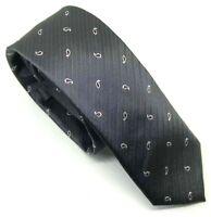 "Ben Sherman Men's Tie Grey Tear Drop Paisley 100% Silk 2"" Width 60"" Length Slim"