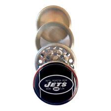 New York Jets Football Kitchen Spice Herb Grinder Tobacco Crusher Metal 4 PC