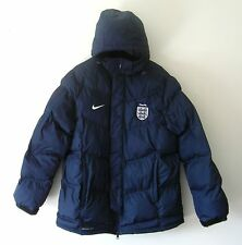 Nike Storm Fit ENGLAND FA 3 Lions Mens Size XL Dark Blue Hooded Padded Jacket