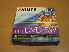 DISCOS PHILIPS 8Cm MINI DVDRW 1.4GB 30MIN PACKX3 PRECINTADOS