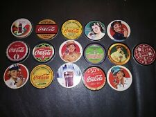 Lot of 16* 1993 Coca-Cola Series 1&2 Trading Card Coke Cap Pogs - Complete Sets!