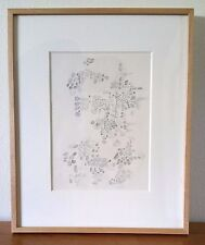 """1950 HAND SIGNED by LEE MULLICAN Original GRAPHITE DRAWING """"Untitled"""" FINE FRAME"""