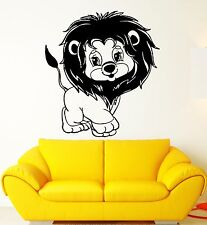 Wall Stickers Vinyl Decal Young Lion Nursery For Kids Animal Cartoon (ig1390)