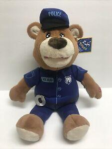 """Zoo Tunes Police Officer Plush Bear Sings """"My Hero"""" Foo Fighters 20"""""""