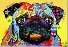 Beautiful Psychedelic Pug Dog Image Picture Poster Home Art Print Wall Decor New