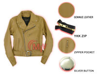 Brando Genuine Leather Men's Distressed Brown Motorcycle Biker Leather Jacket