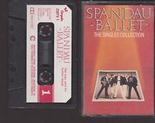 SPANDAU BALLET ~ THE SINGLES COLLECTION CASSETTE TAPE ALBUM ~ PAPER LABEL ~ 1985