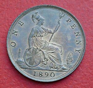 Victoria 1890 Penny - Top grade