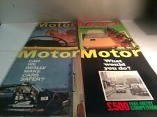 Motor - Magazine - Lot Of 4 - 1964, 1966, 1980